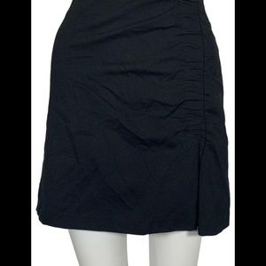 BRAND NEW 1.STATE Black Ruched Mini Skirt Size L